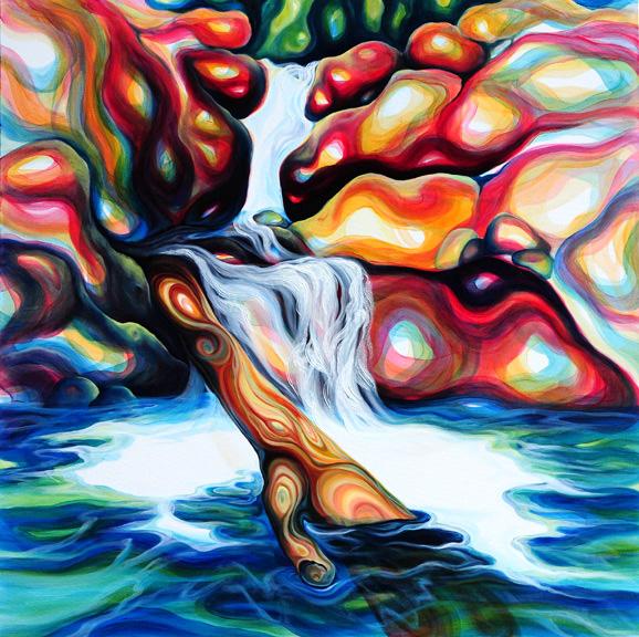 """Illumination   oil on canvas  48"""" x 48"""""""