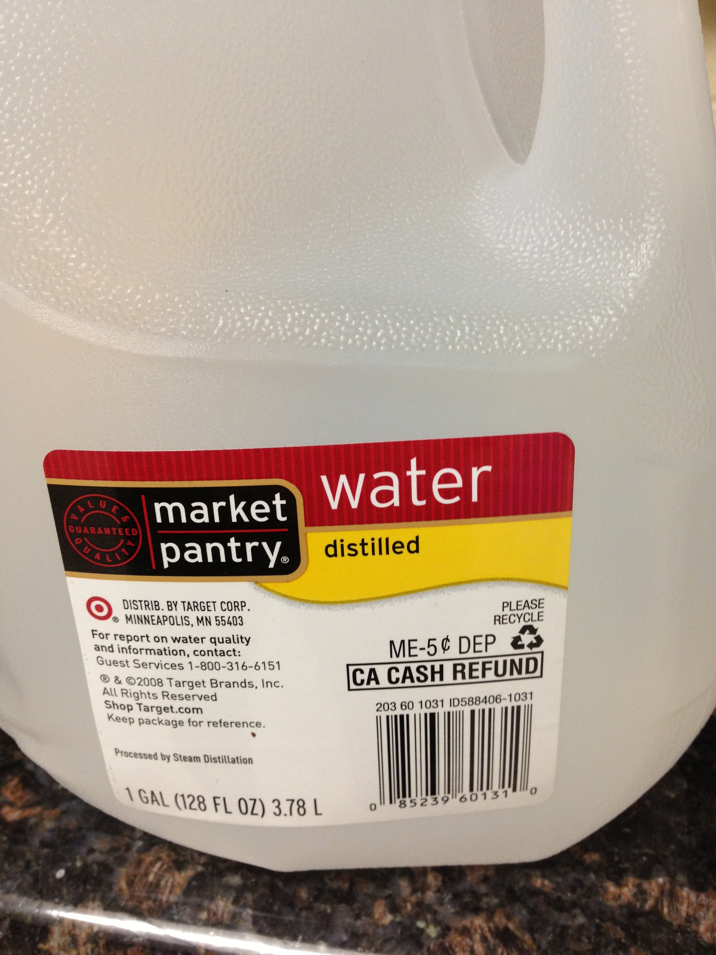 Distilled Water, Less than a dollar a gallon