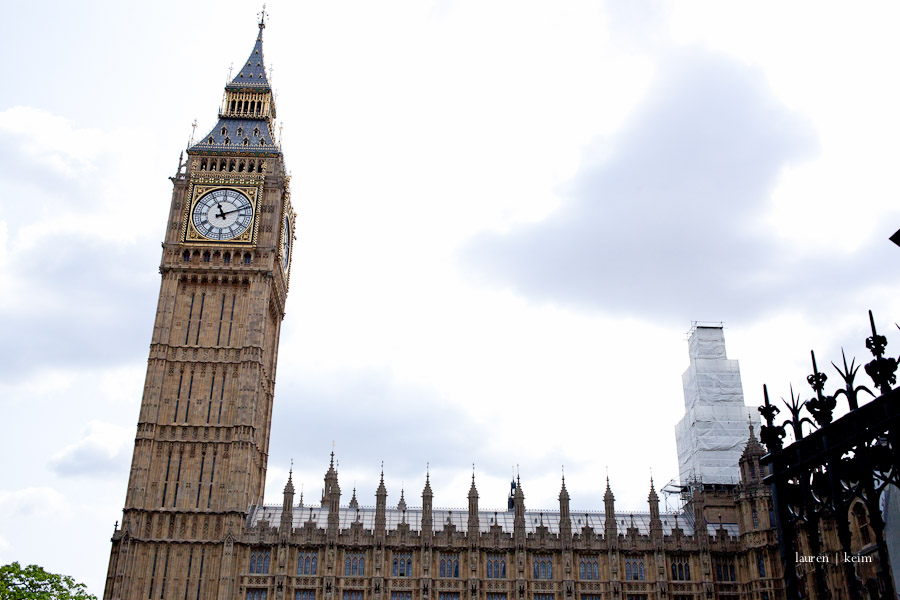 Big Ben (the bell inside, at least) and the Houses of Parliament