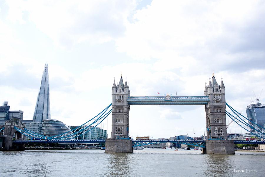 Tower Bridge and the Shard.