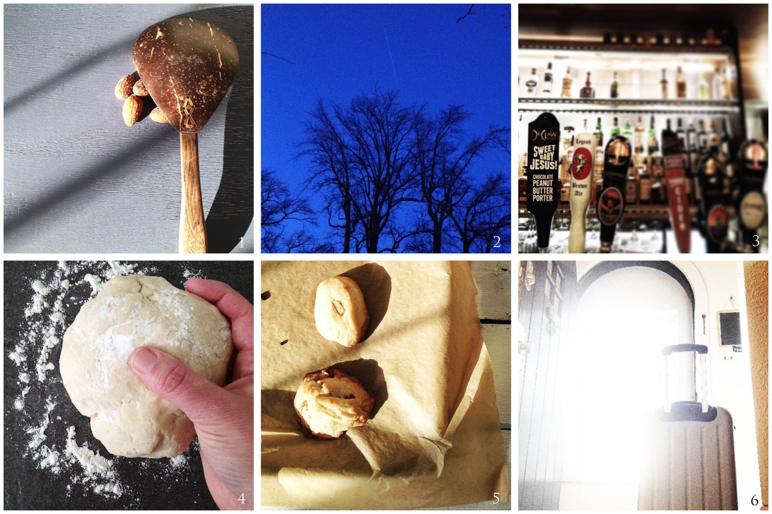 1. Afternoon snack | 2. Twilight comes later | 3. Sweet Baby Jesus! | 4. Pie Making | 5. Cookie Making | 6. Traveling Man