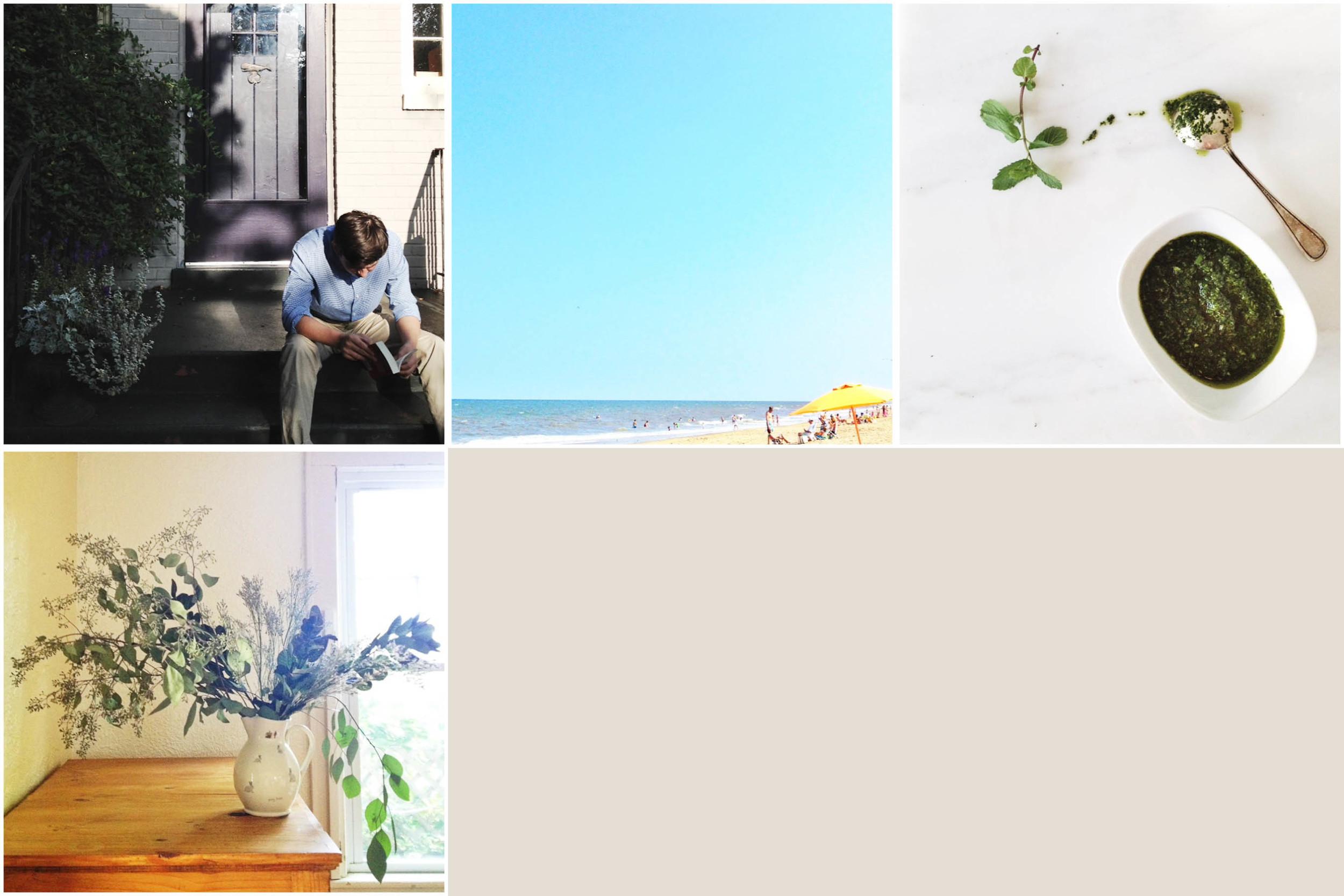 Row 1 : School starts, summer ends; dinner lingers;  Row 2:  Flowers last