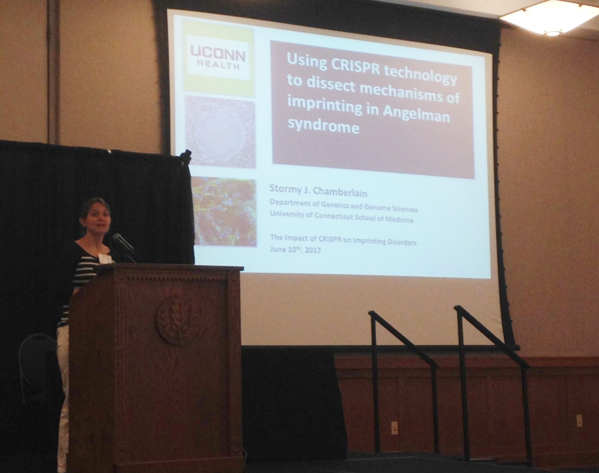 Dr. Stormy Chamberlain presents on the imprinting disorder,Angelman Syndrome.