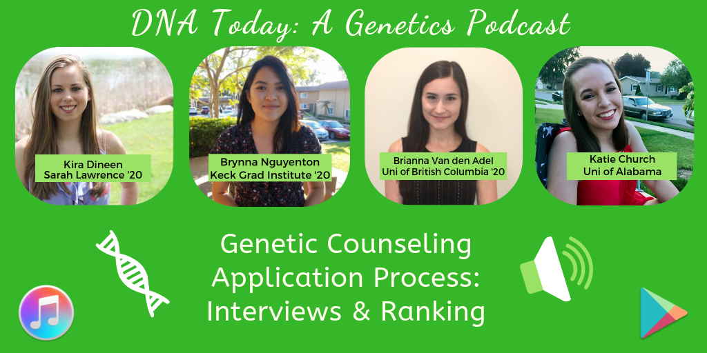 97 Genetic Counseling Grad School Interviews, Ranking, Matching