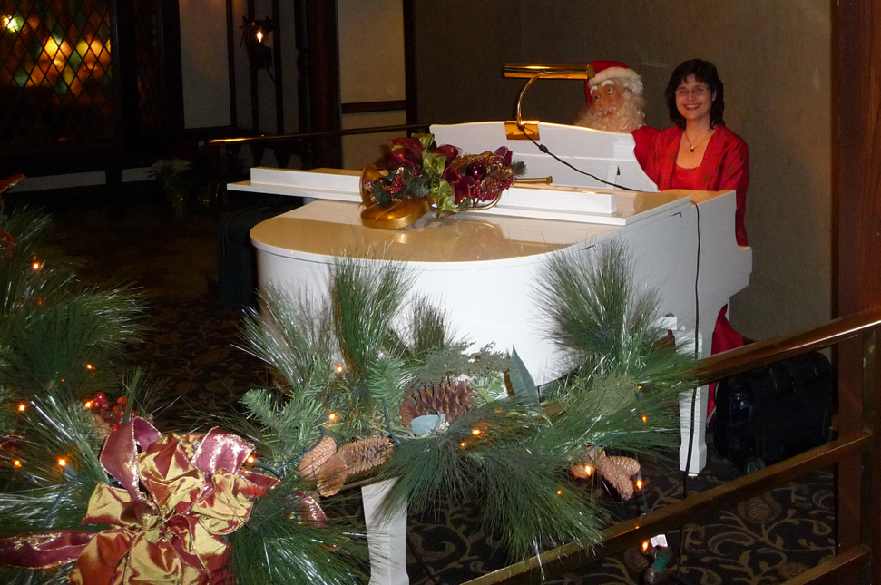 Holiday piano music.