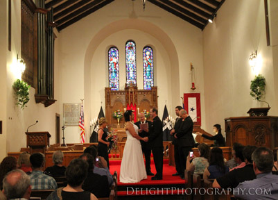 Historic Fort Snelling Memorial Chapel Wedding Ceremony