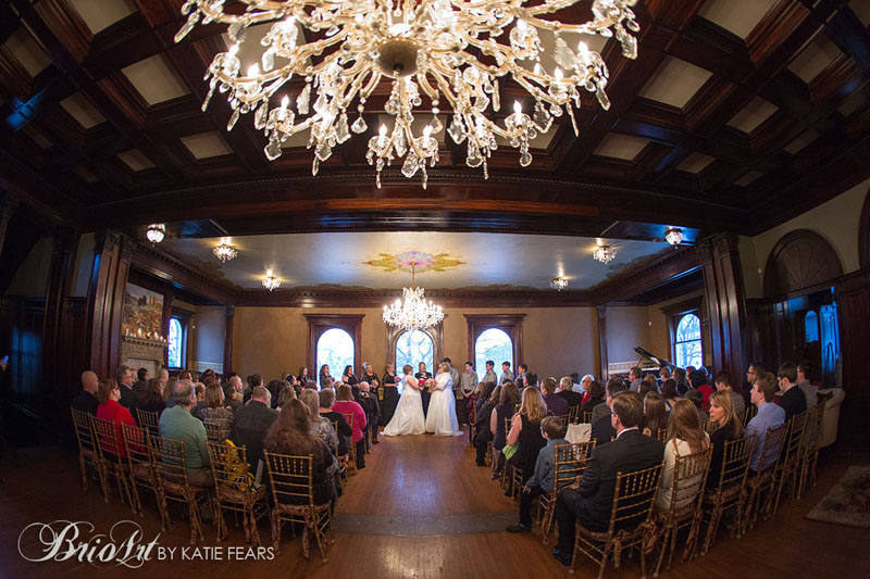 A joyous wedding at the Semple Mansion. Photo credit  http://www.brioart.com/