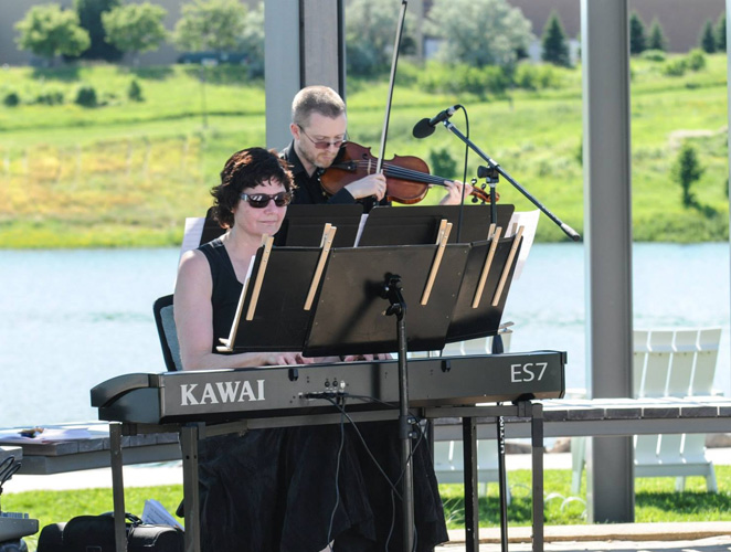 Violinist, Conor O'Brien, & pianist, Sharon Planer.  Photo credit:  Coppersmith Photography