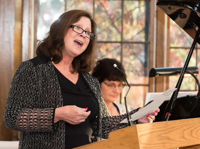 Wedding ceremony music performed by Vocalist Mary Pat Nydahl & Pianist Sharon Planer.  Photo credit:  Makeen Osman