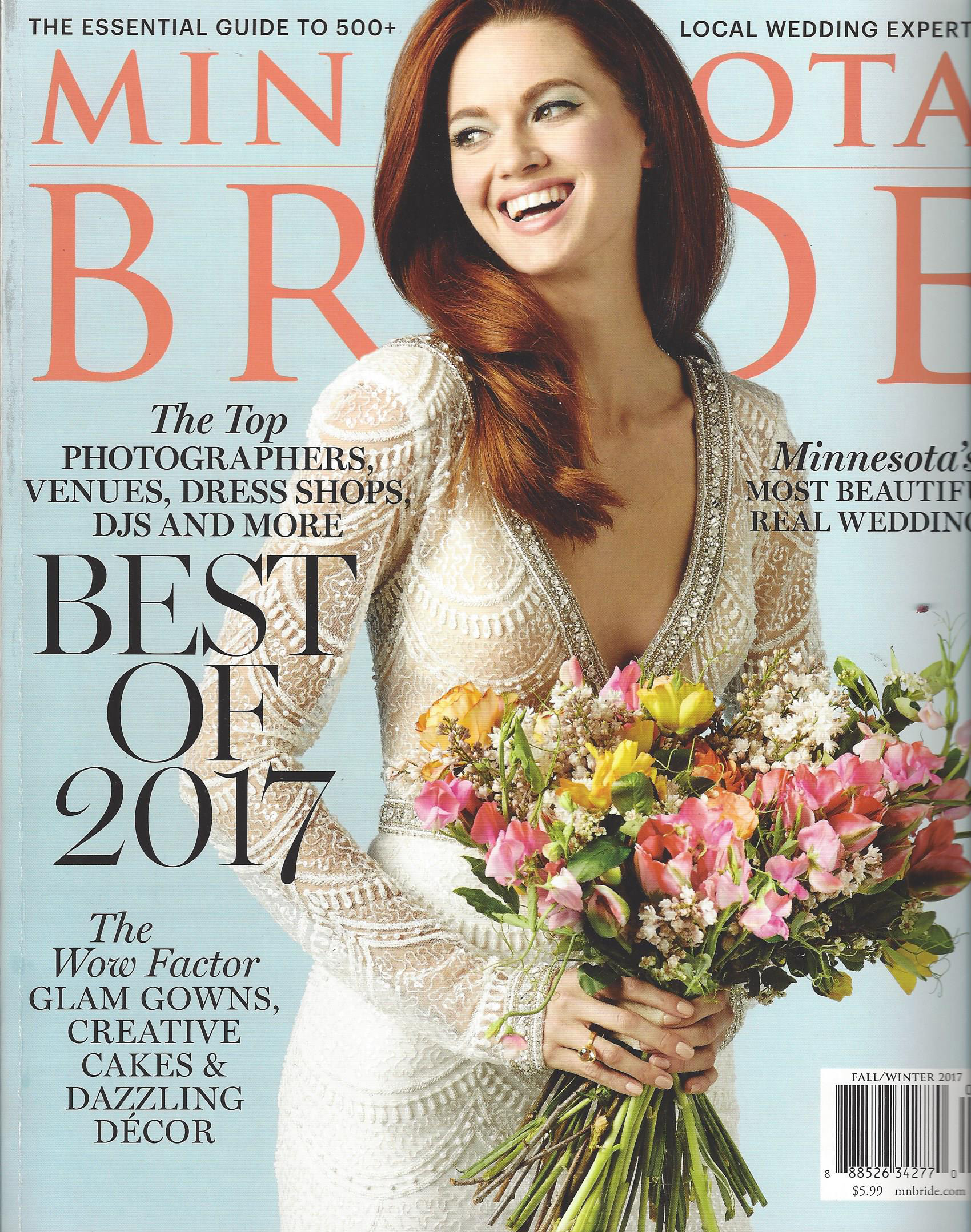 As seen in MN Bride Magazine 'Best Of Fall Winter issue 2017'