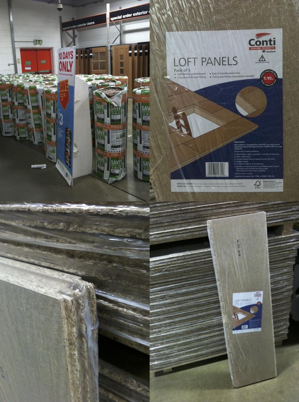 Loft Panels and Insulation