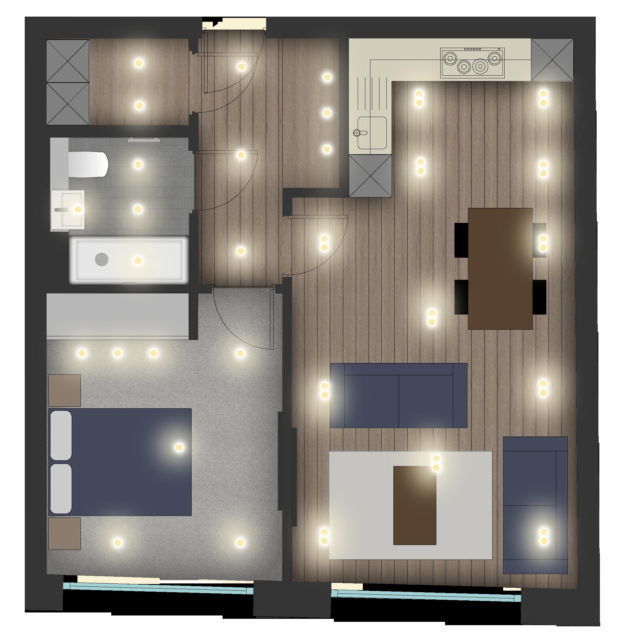 Bernard morgan house bathroom-1-50 Flat Layout.png