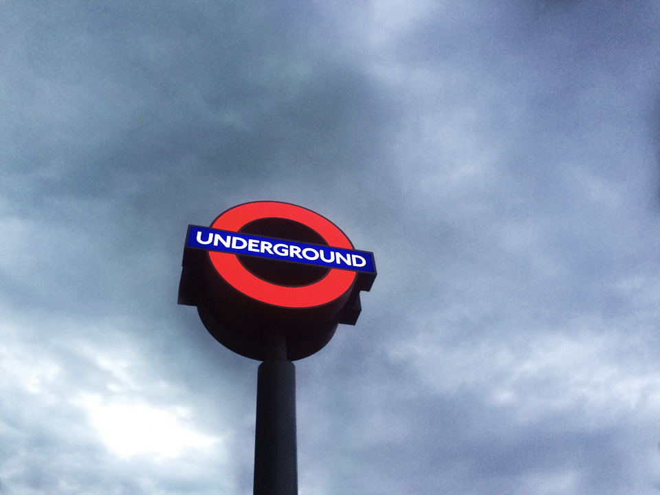 Underground station sign (I had arrived early).