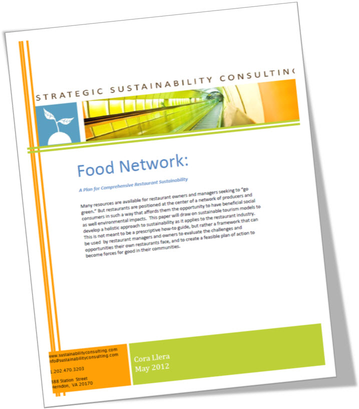 Food Network: A Plan for Comprehensive Restaurant Sustainability