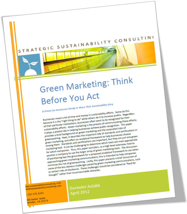 Green Marketing: Think Before You Act