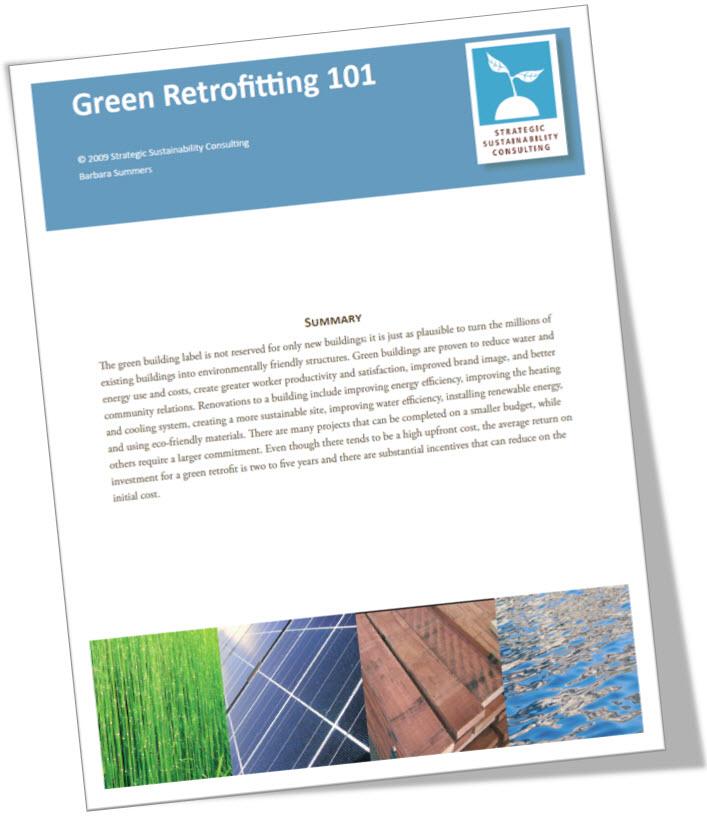 Green Retrofitting 101