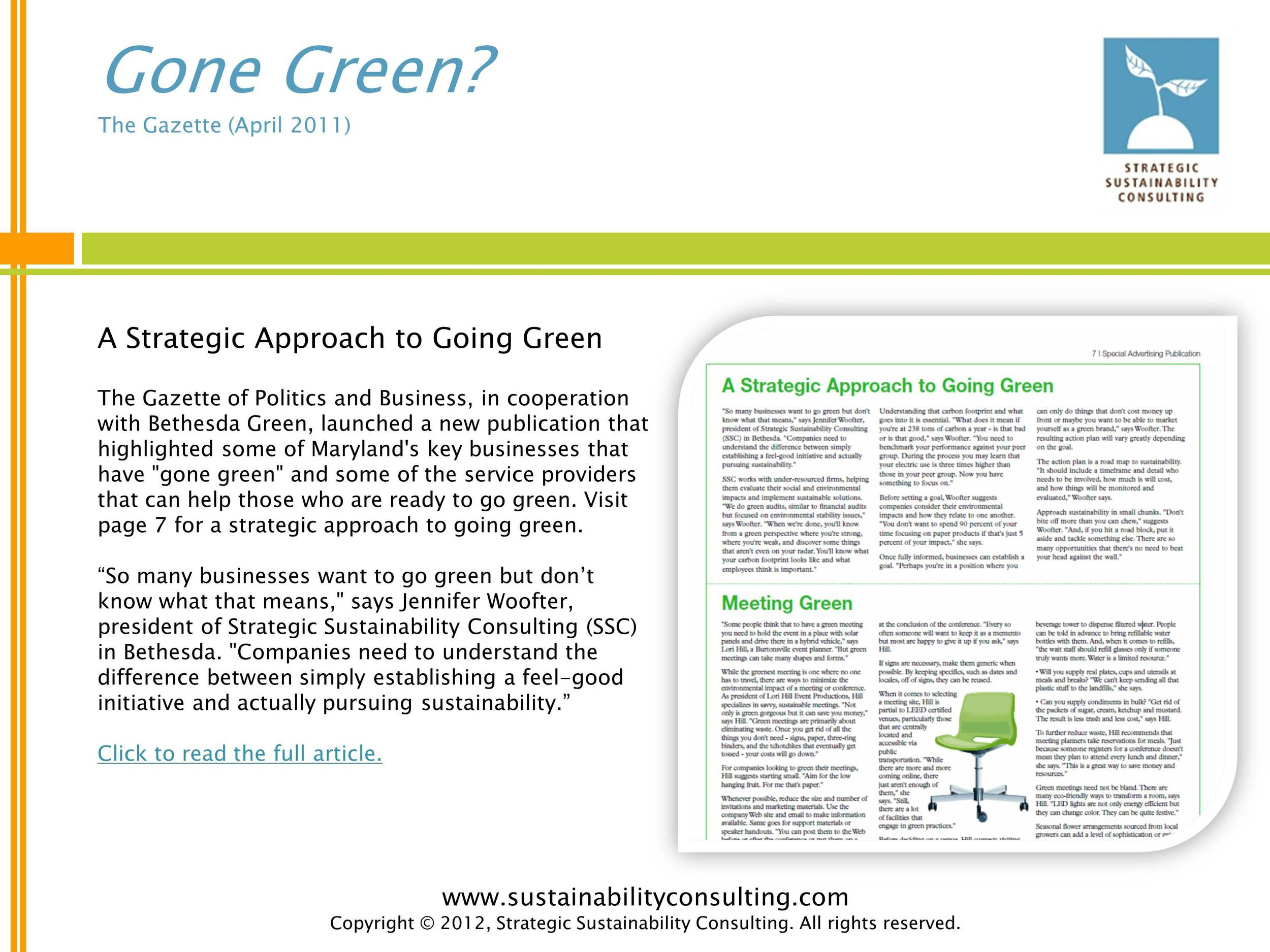 Gone Green?