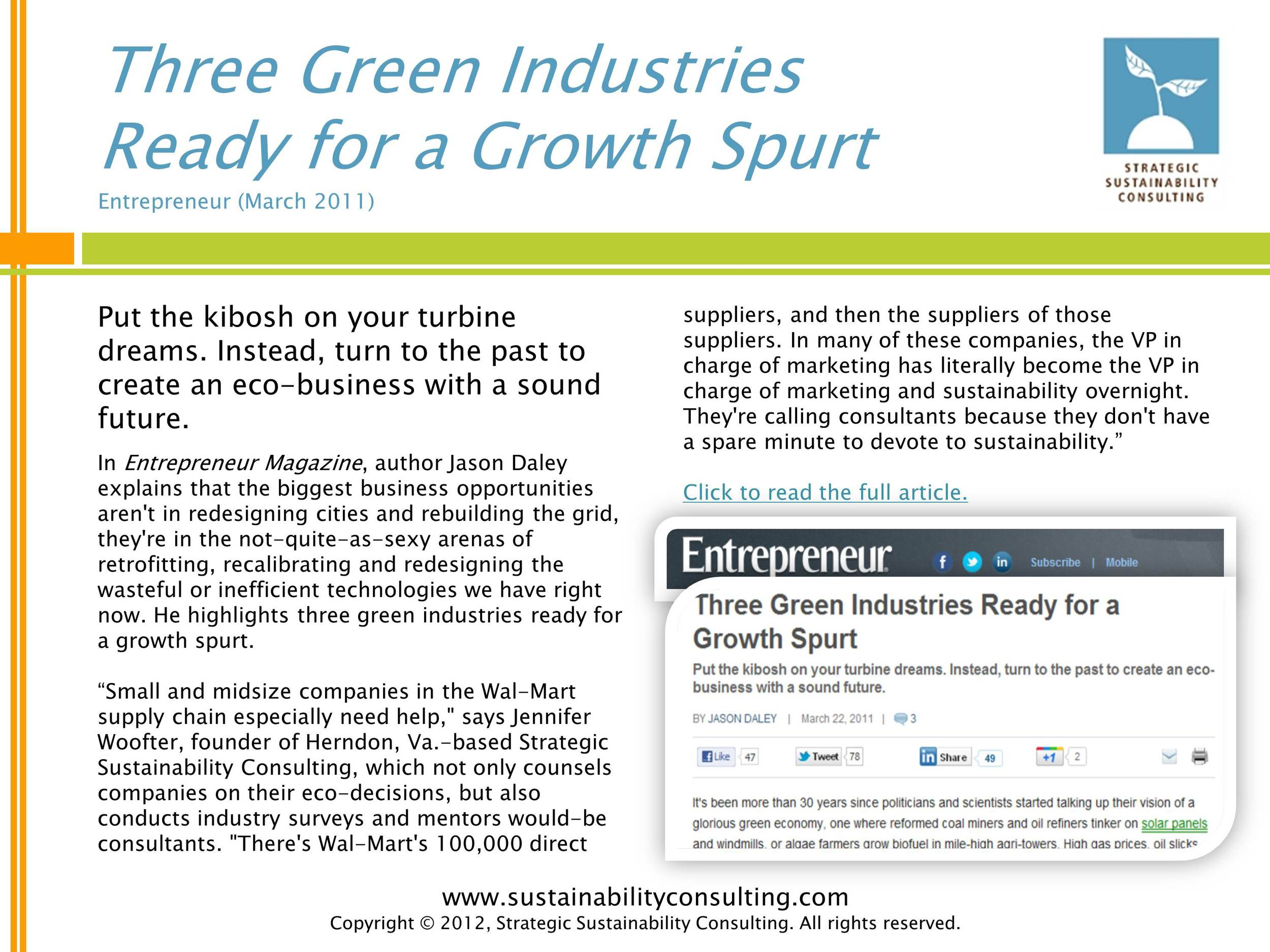 Three Green Industries Ready for a Growth Spurt