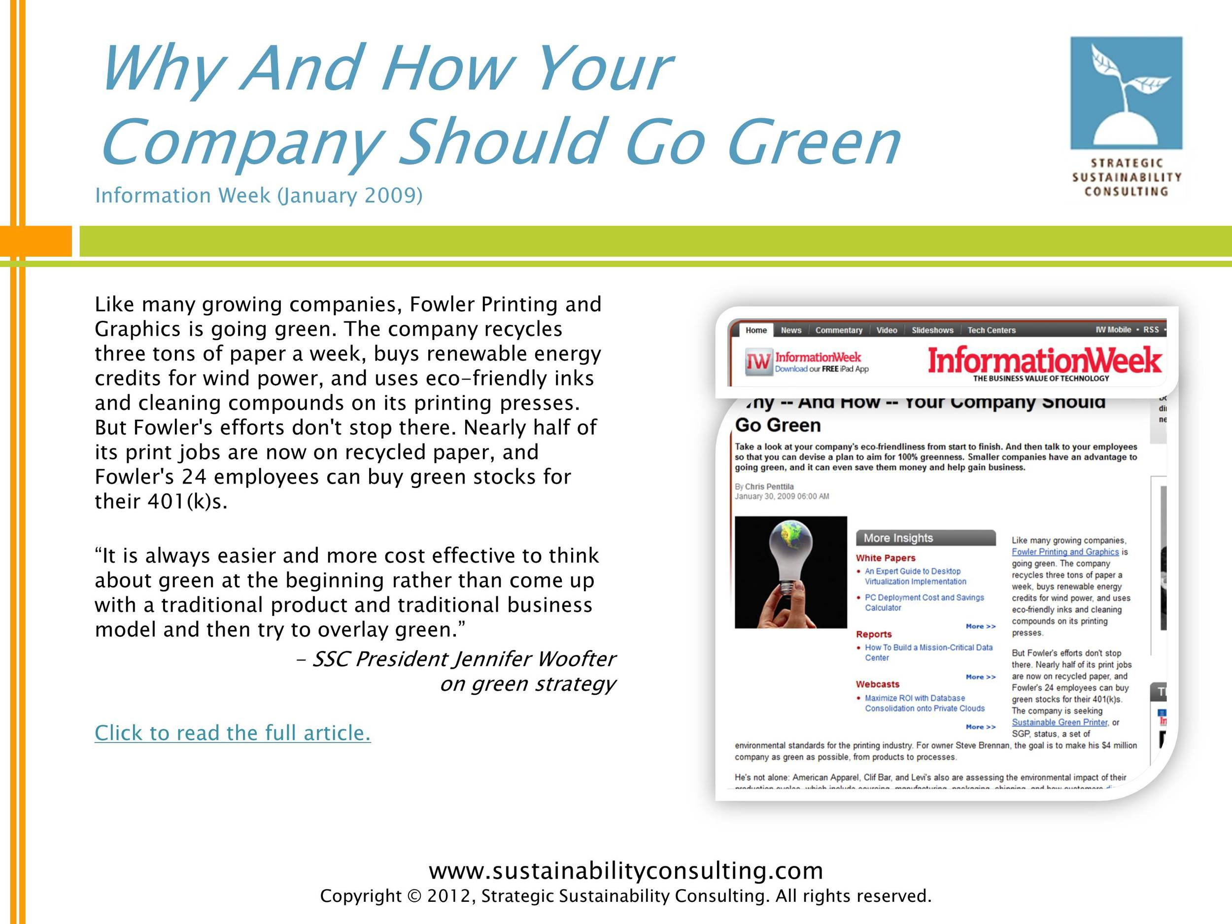 Why And How Your Company Should Go Green