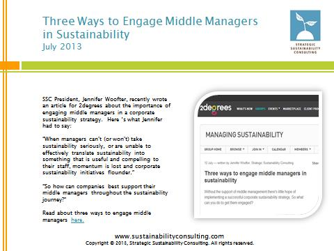 Three Ways to Engage Middle Managers in Sustainability