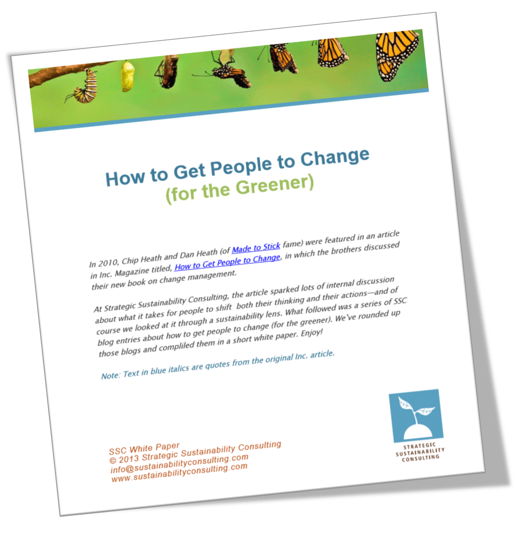 How to Get People to Change (for the Greener)