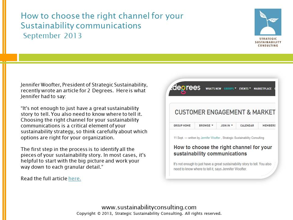 How to Choose the Right Channel for Your Sustainability Communications