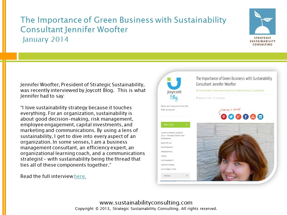 The Importance of Green Business with Sustainability Consultant Jennifer Woofter