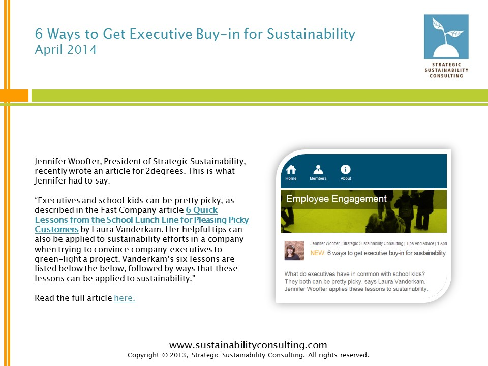 6 Ways to Get Executive Buy-in for Sustainability