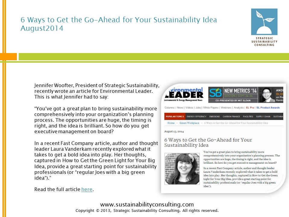 6 Ways to Get the Go-Ahead for Your Sustainability Idea