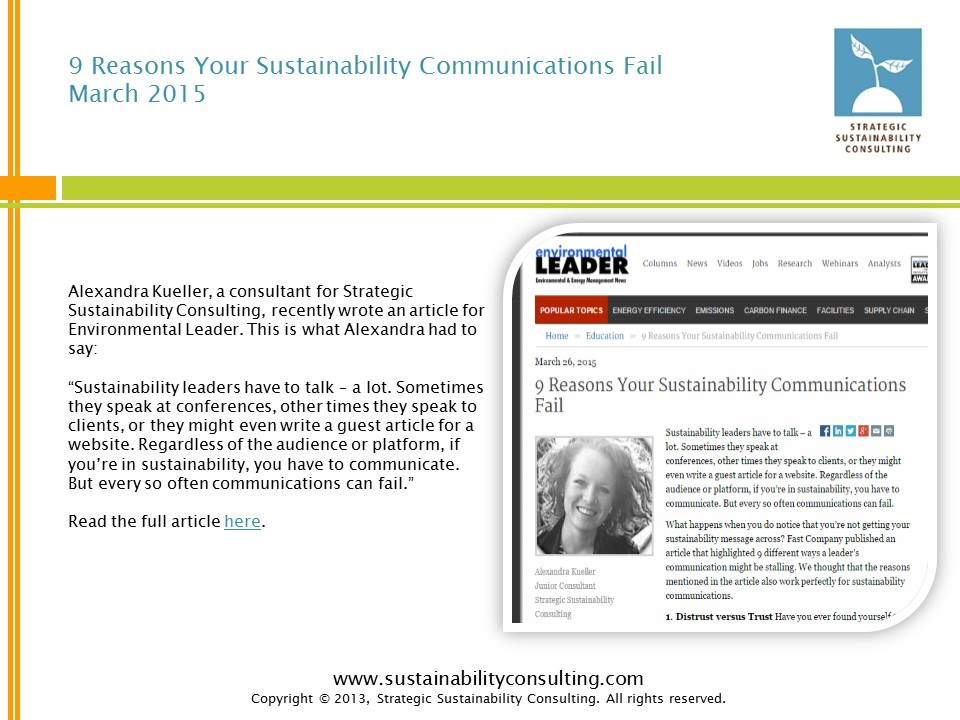 9 Reasons Your Sustainability Communications Fail