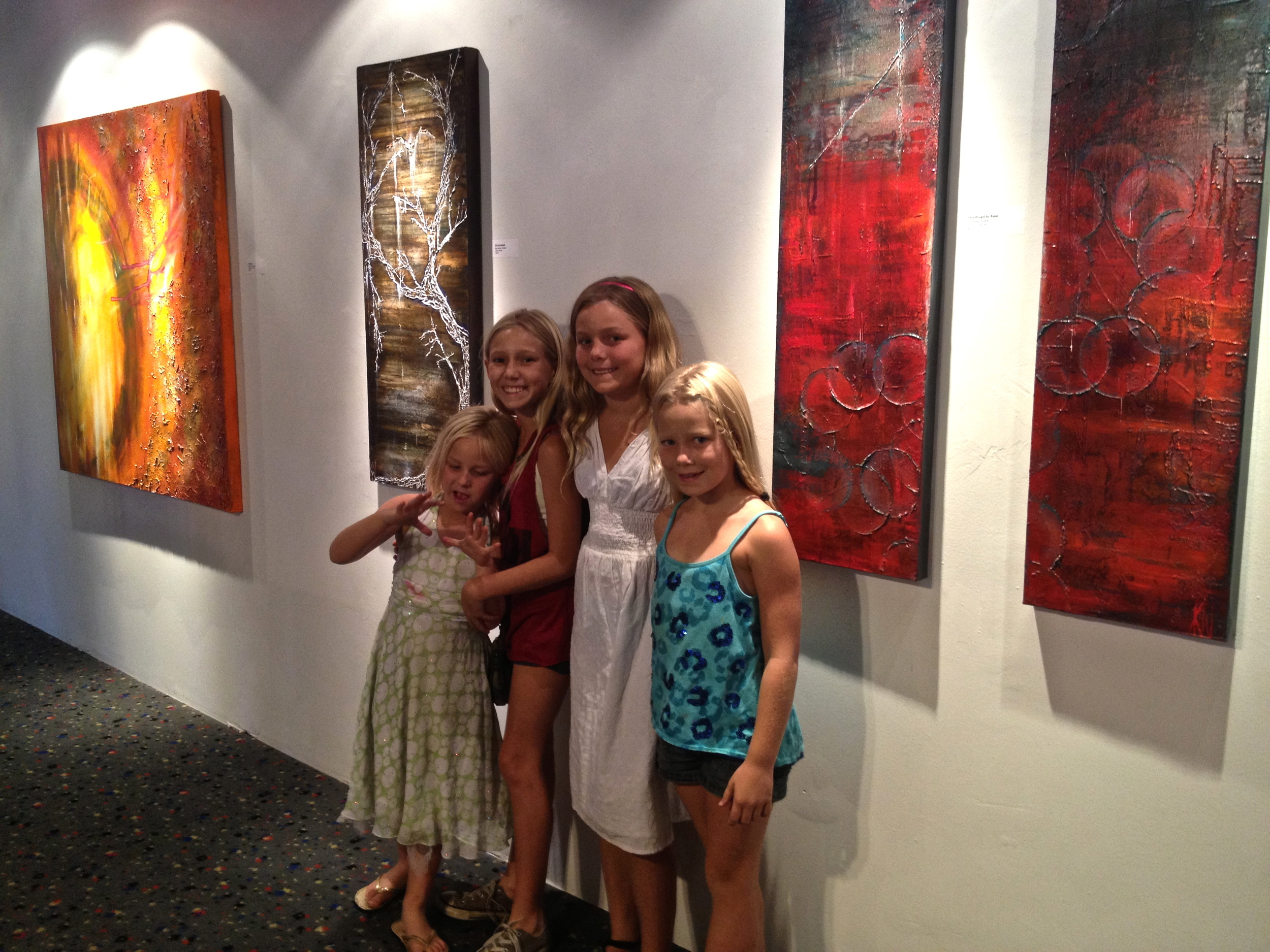 My Blonde Army in front of my wall at Gallery Expo, LB