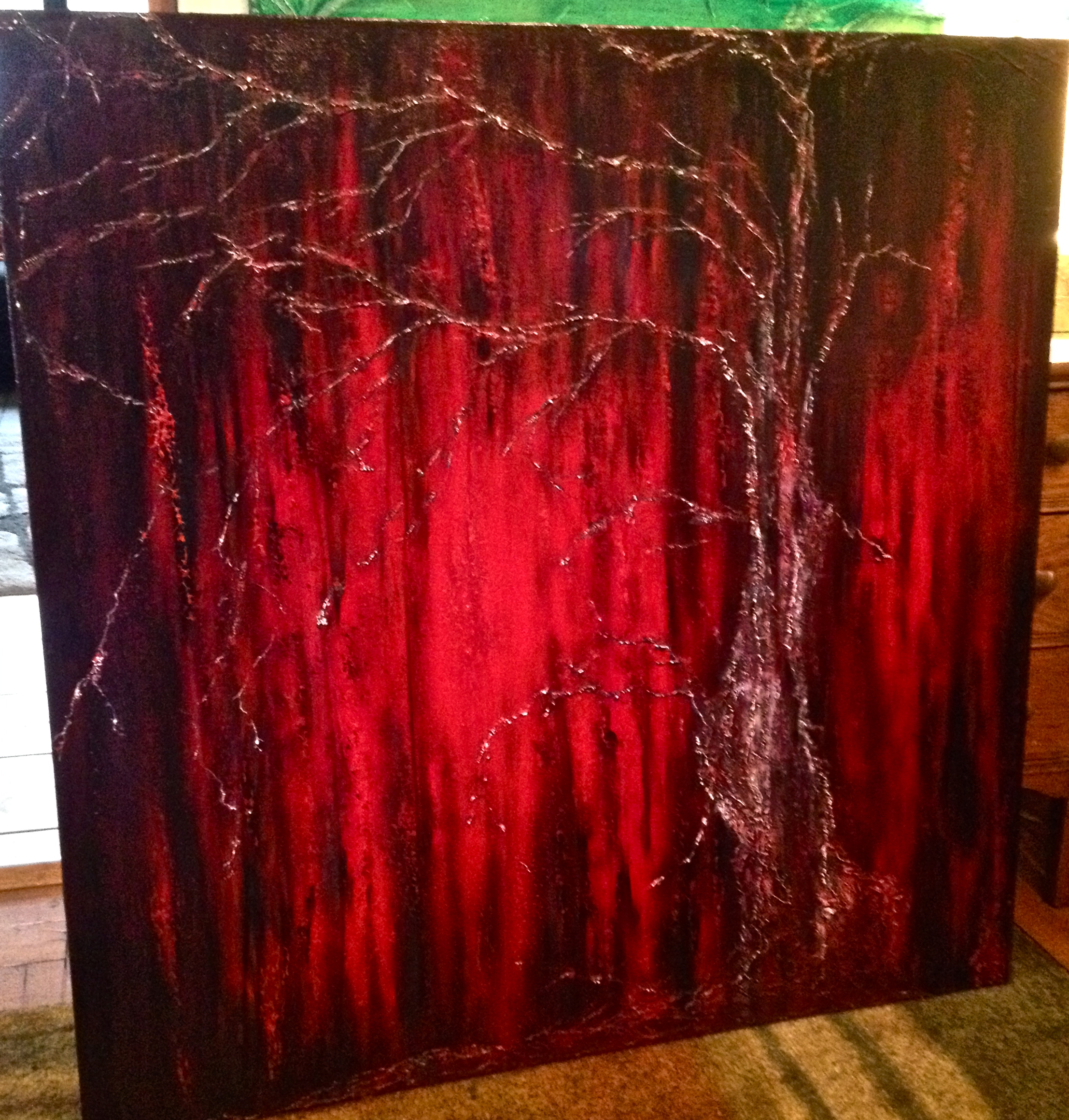 """Melancholia""  48 x 48 acrylic on gallery wrapped canvas"