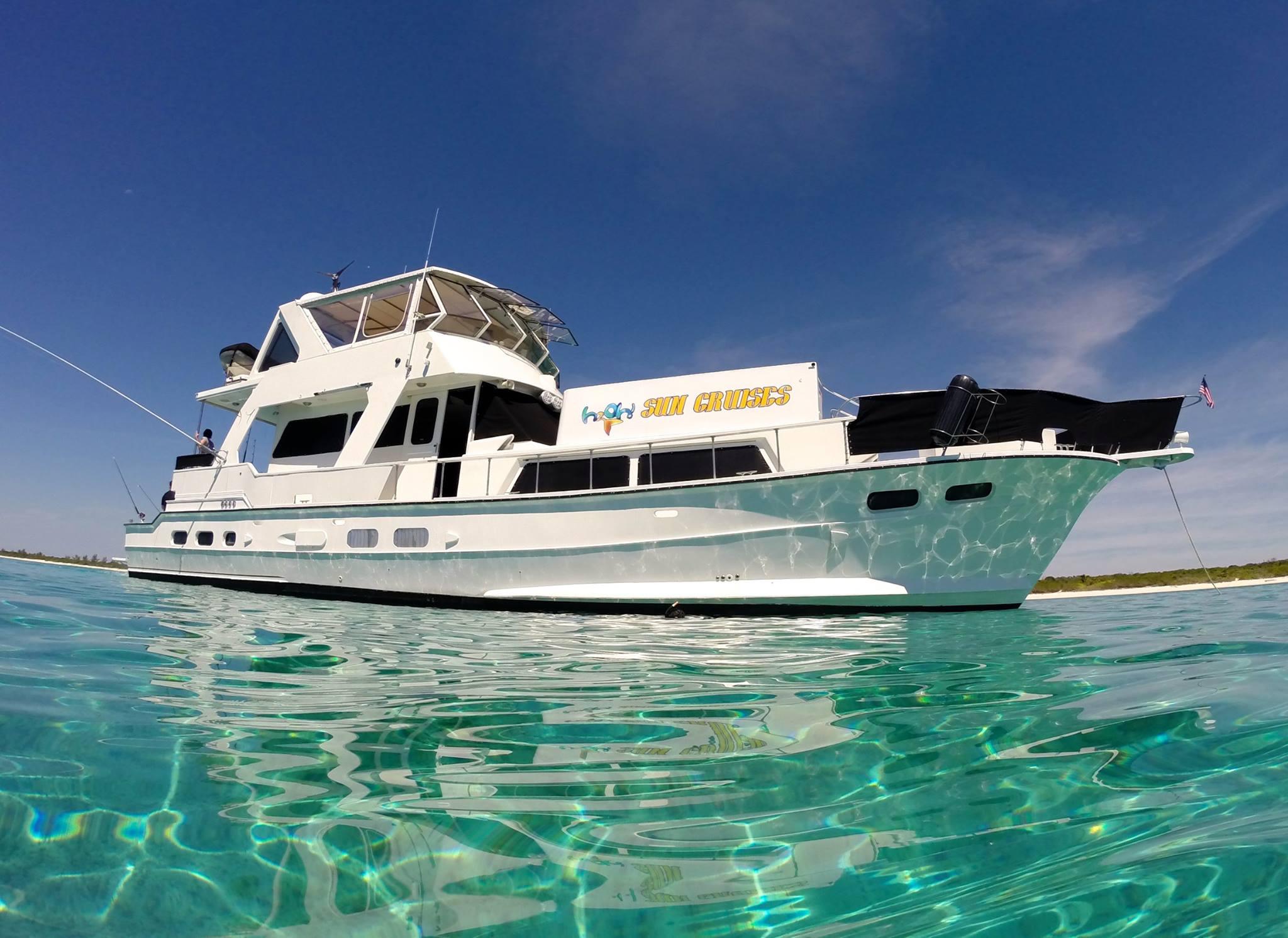 The 72' yacht, Piratas de Tejas of h2oh Sun Cruises.