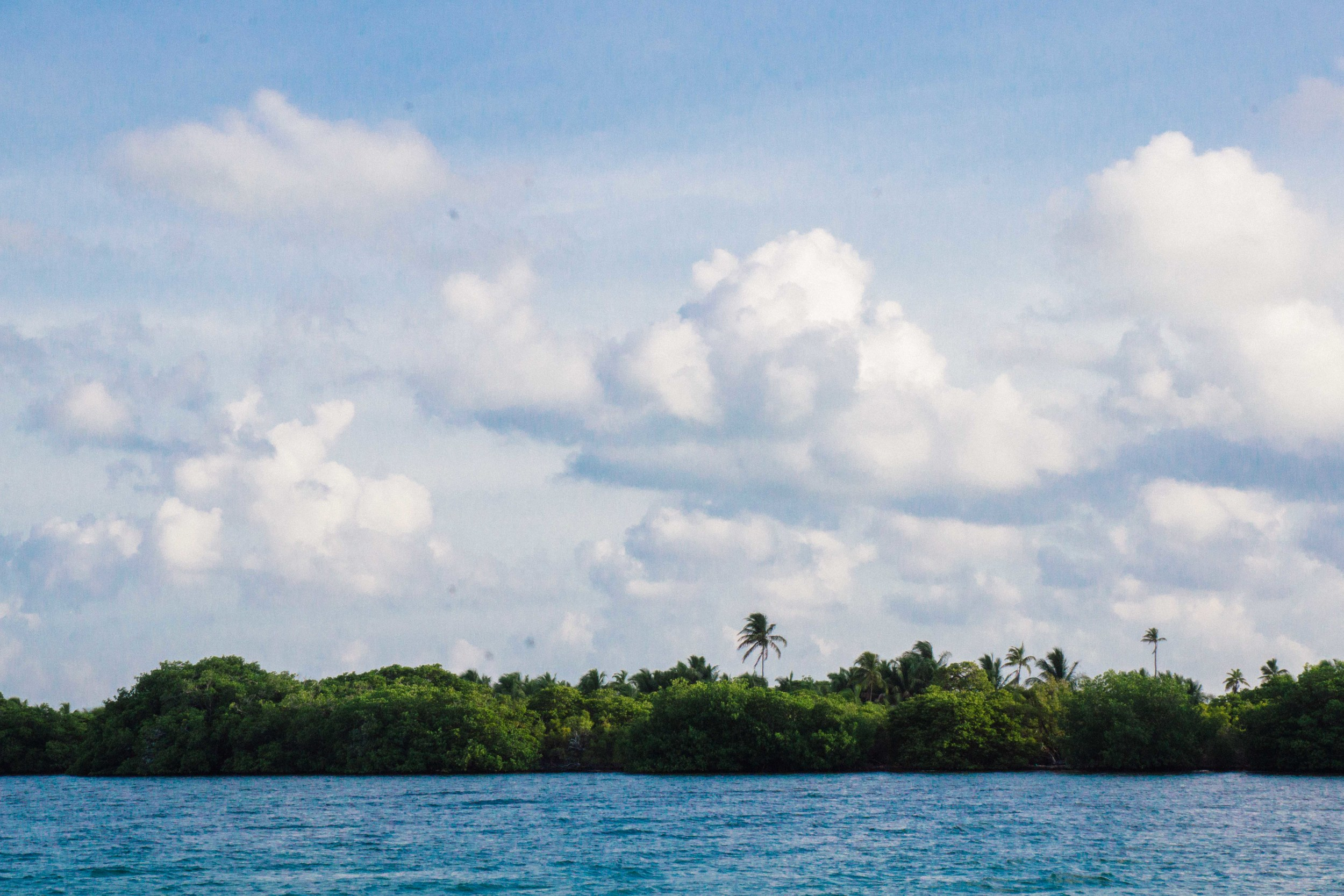 Passing Cayo Culebra, from the north.
