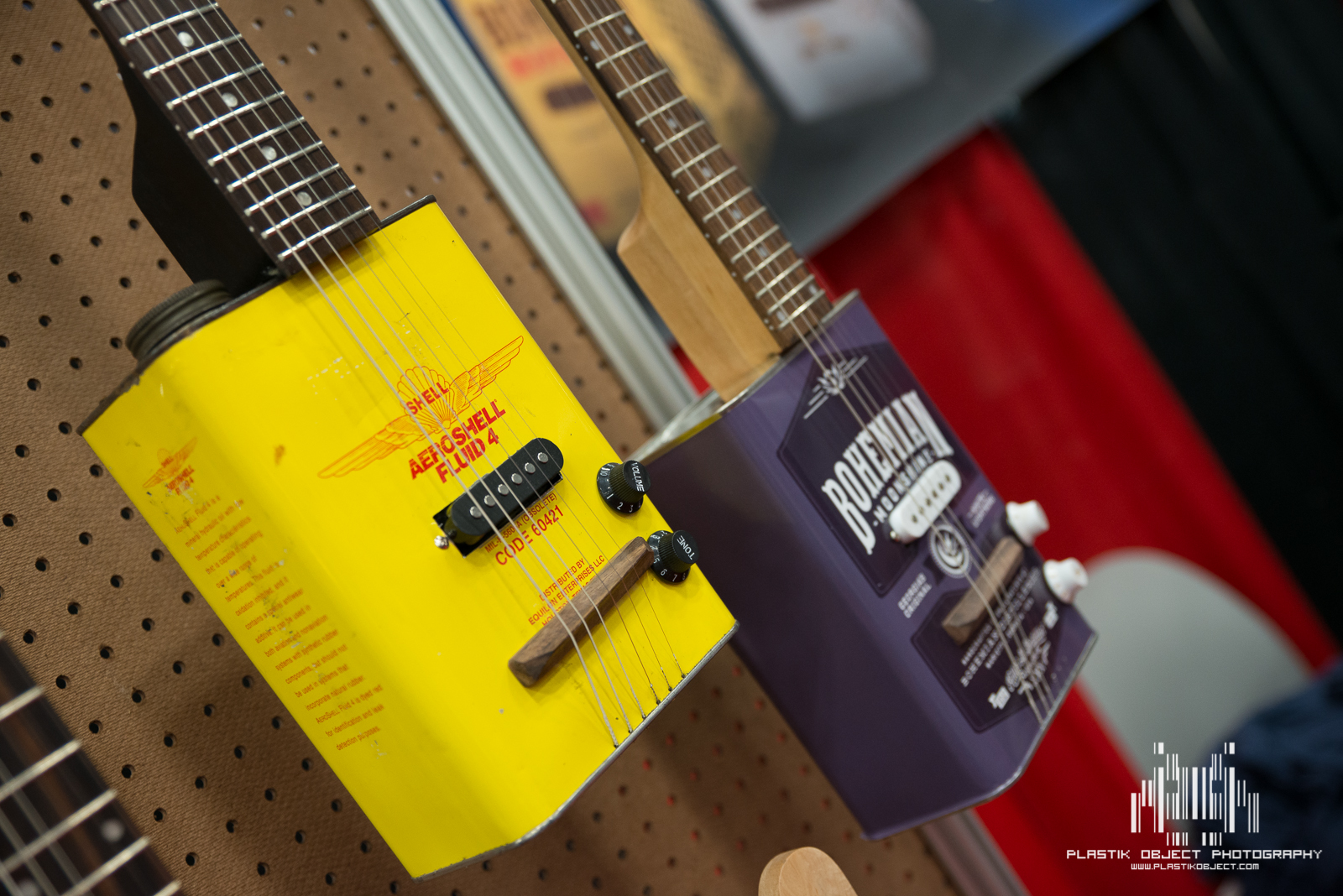 Gas can guitars.