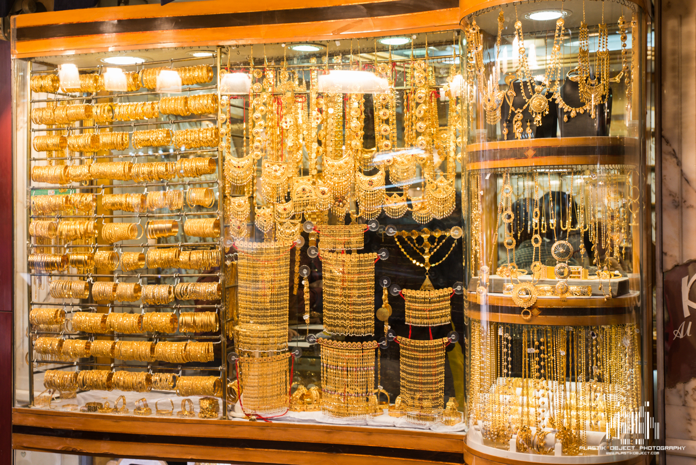 Rows and rows of store fronts that looked a lot like this, all showcasing their gold and jewelry.