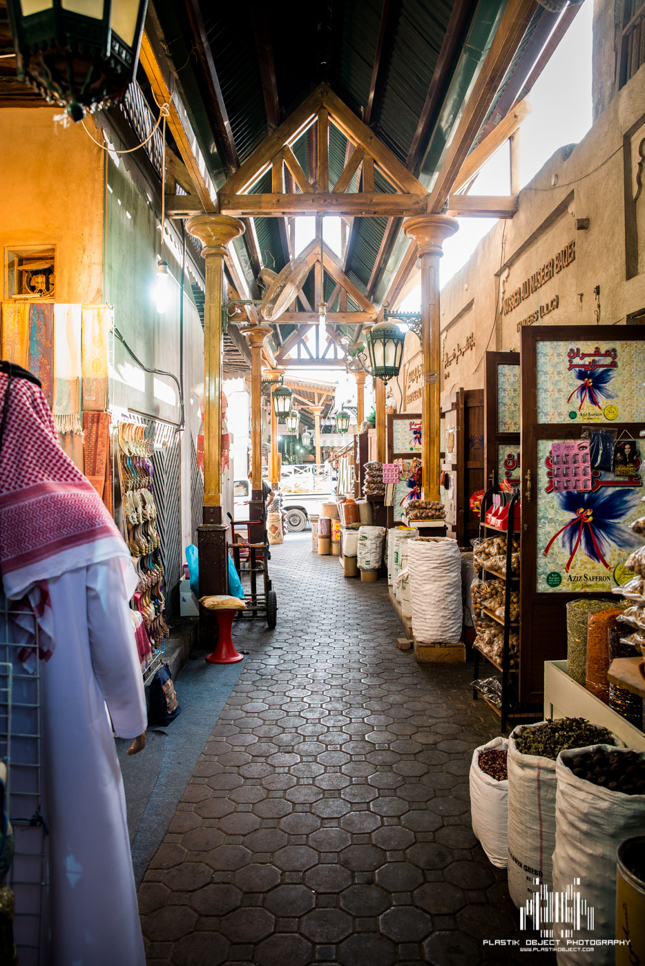And for one moment, the normally busy halls of the Spice Souk were empty. No prayer, no nothing, just empty.