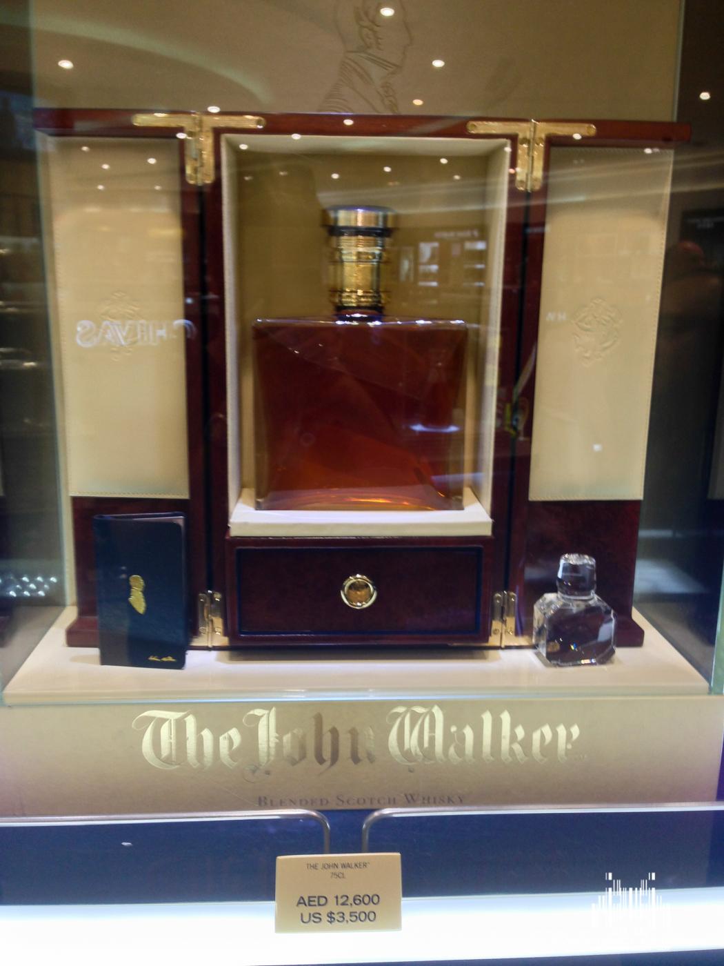 A nice $3500 bottle of Johnny Walker in the Dubai Duty Free store.