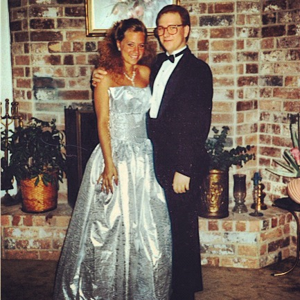 yes, this is me with my brother. no, he was not my date.