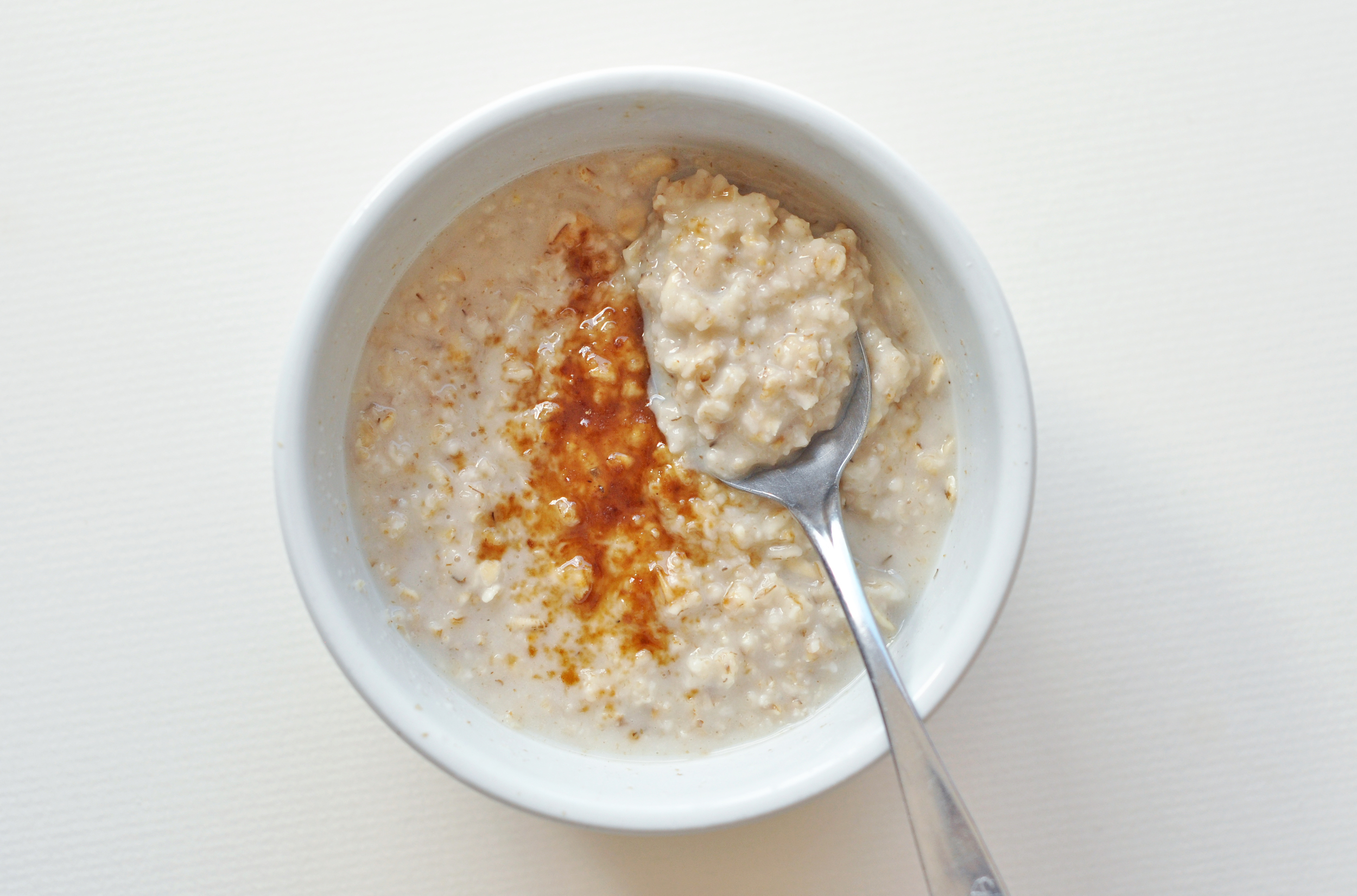 creamy oats with a sprinkling of coconut sugar