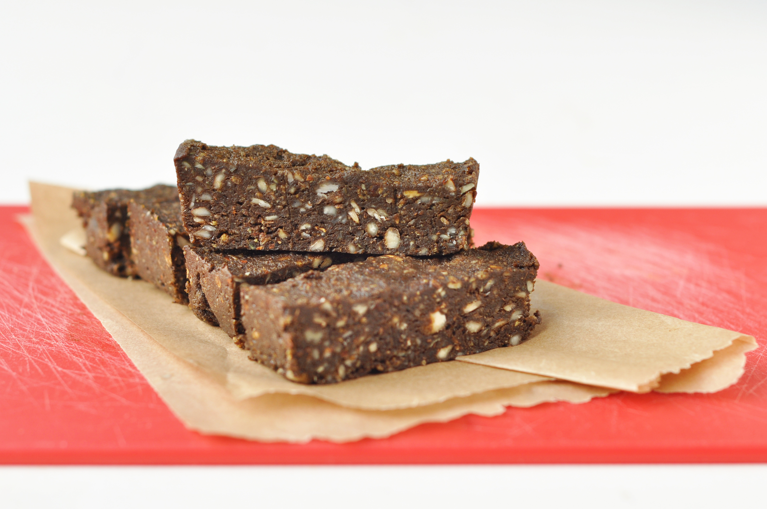 """""""Soft and crunchy bars with a touch of chocolatey indulgence. A great way to boost your protein after a workout!"""""""