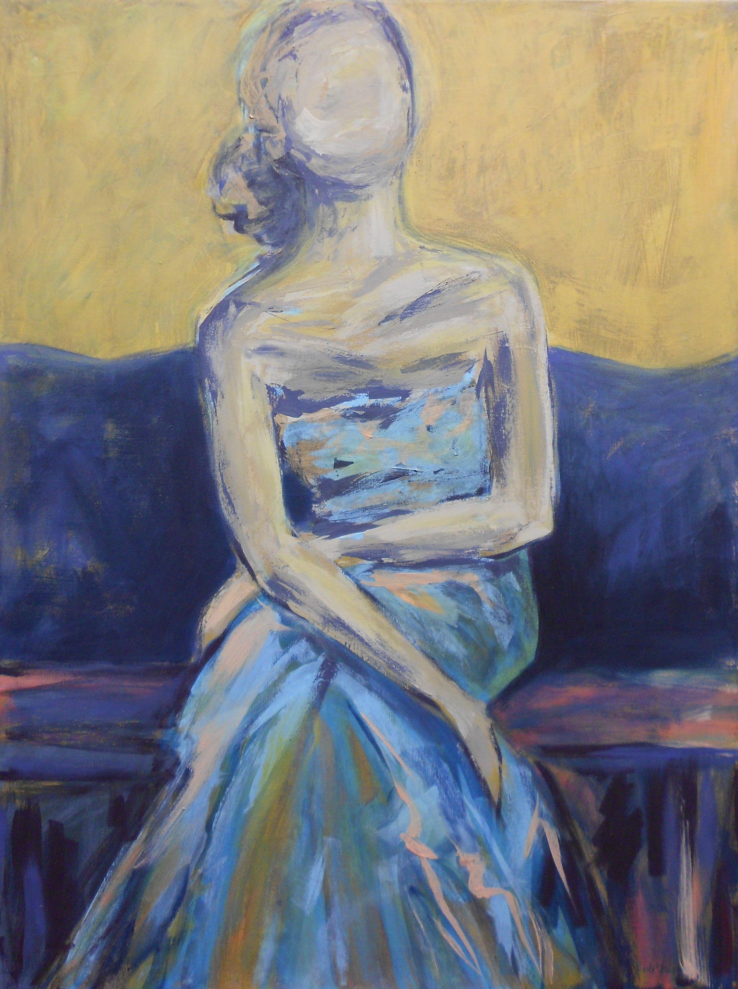 Blue Dress, Yellow Sky