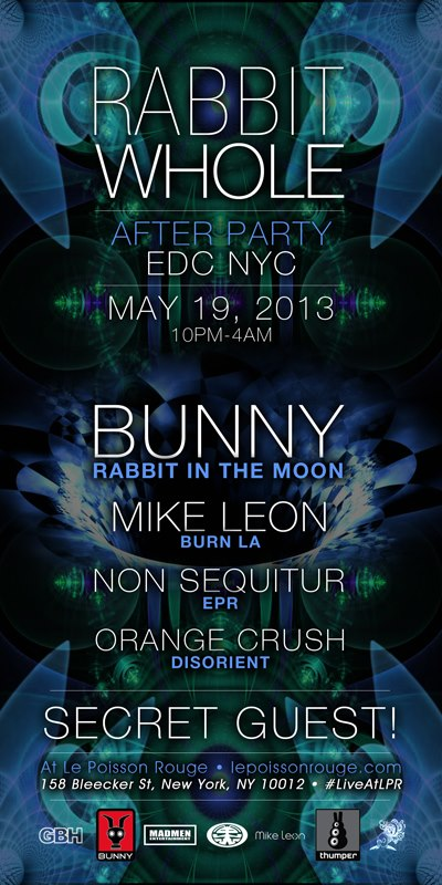 non sequitur bunny rabbit in the moon mike leon insomniac edc edcny electric daisy carnival