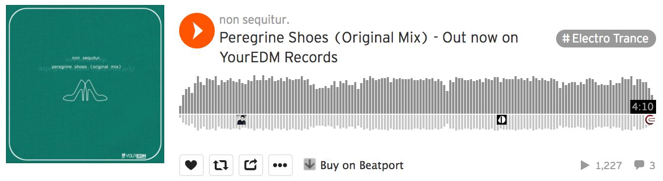 non sequitur peregrine shoes beatport your edm records yourEDM electro trance electrance soundcloud