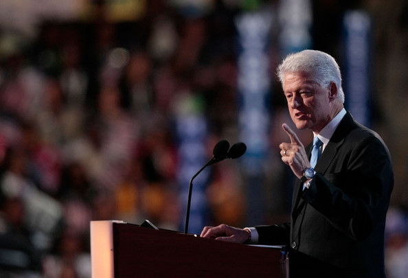 President Bill Clinton at the 2008 Democratic Convention