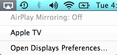 AirPlay Menu on Mac