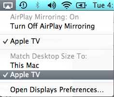 AirPlay Mirroring Live on a Mac