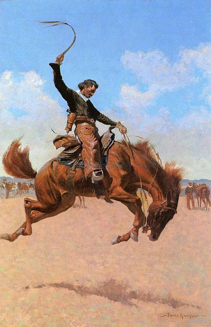 """The Bronco Buster"" – Frederic Remington"