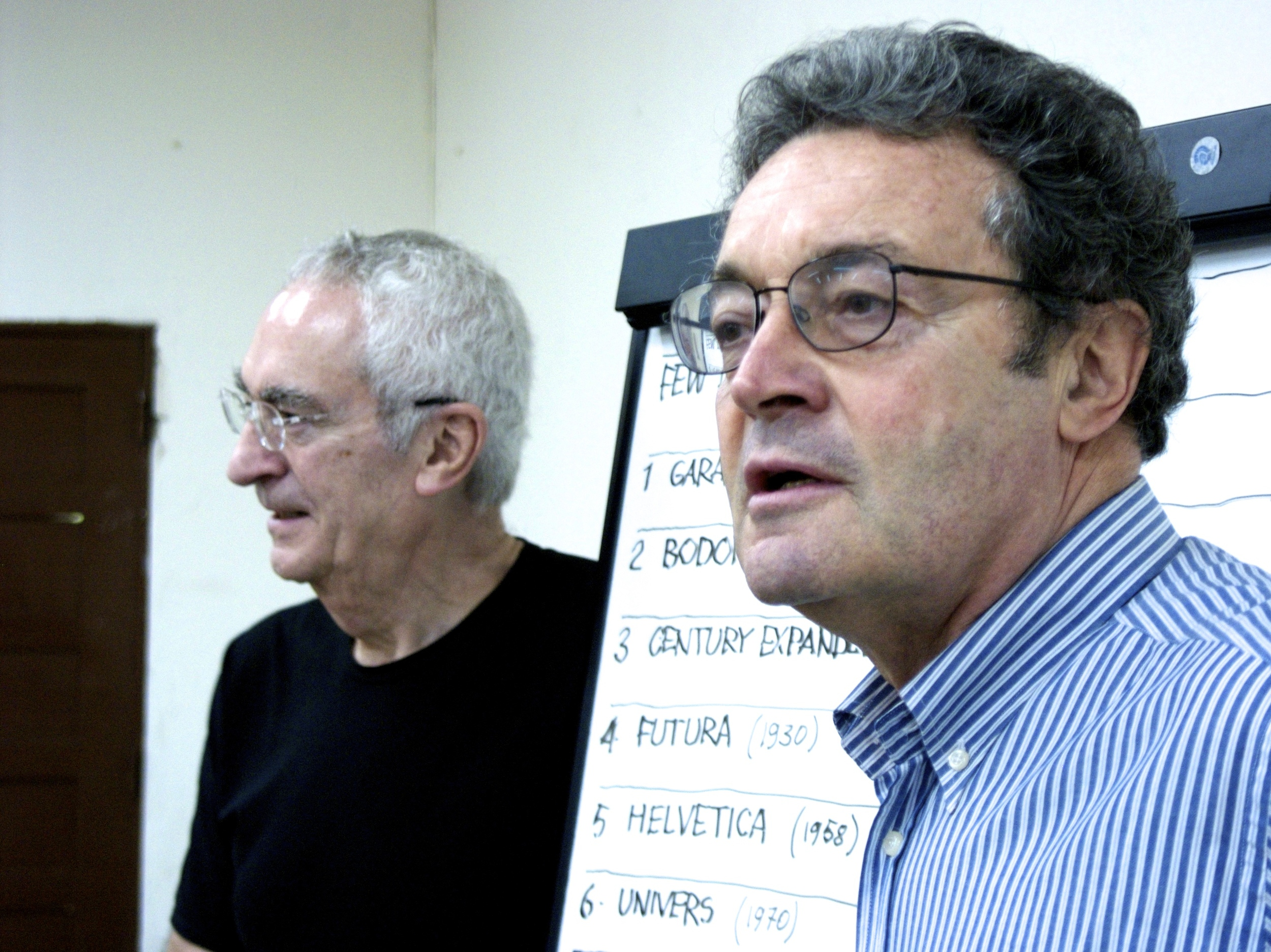 Designers Massimo Vignelli (Left) and Domingo Milani (Right)