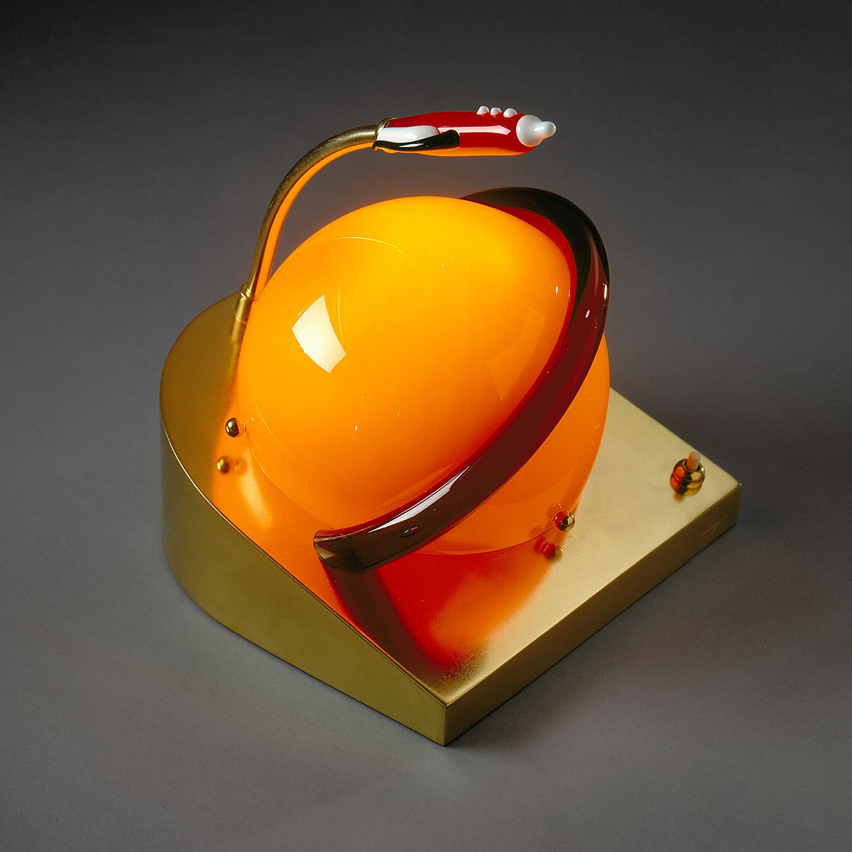 "Rocket Lamp   1972. Blown glass, brass. 16 x 9 x 9¼""   Venini   Murano, Italy"